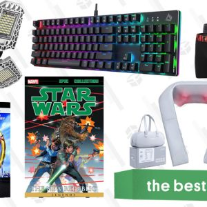 Stick Vacuum Cleaner Saturday's Best Deals: Star Wars Comics, Shoulder and Neck Massagers, Men's Underwear, and More