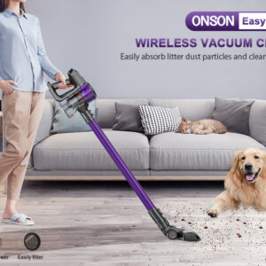 Stick Vacuum Cleaner ONSON Cordless Vacuum Cleaner: Powerful Results For a Lightweight