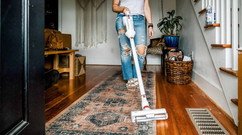 Stick Vacuum Cleaner Powerful & Pretty: This White Vacuum Is My Latest Obsession For Home
