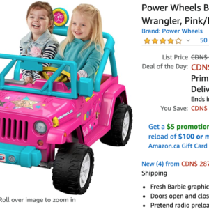 Stick Vacuum Cleaner Amazon Canada Deals: Save 24% on Shark iQ Robot Self-Empty Vacuum + 28% on Power Wheels Barbie Jeep Wrangler + More Offers